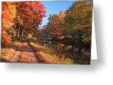 Autumn Along The Canal Greeting Card