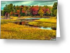 Autumn Along The River Greeting Card