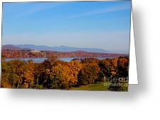 Autumn And The Hudson River Greeting Card