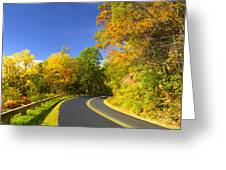 Autumn Appalachian Drive Greeting Card