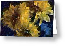 Autumn Asters Greeting Card