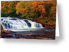 Autumn At Buttermilk Falls Greeting Card