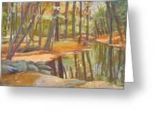 autumn at Kenoza Greeting Card