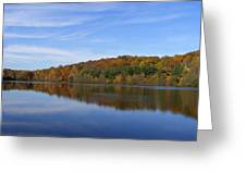 Autumn At Lake Mohegan Greeting Card