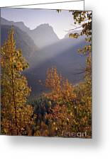 Autumn At Logan Pass Greeting Card