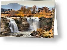 Autumn At Lundbreck Falls Provincial Park Greeting Card