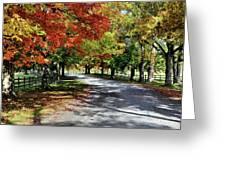Autumn At Oatlands Lane Greeting Card