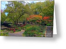 Autumn At The Bridge In Lafayette Park Greeting Card