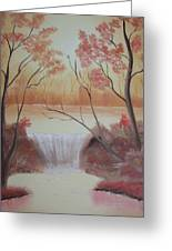 Autumn At The Falls Greeting Card
