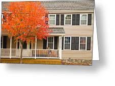 Autumn At The Inn Greeting Card