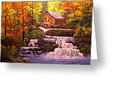 Autumn At The Mill Greeting Card