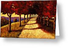 Autumn Avenue Greeting Card
