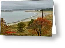 Autumn Beachcombers  Greeting Card
