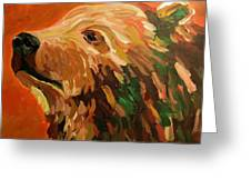 Autumn Bear Greeting Card