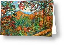 Autumn Beauty From Sharp Top Greeting Card