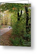 Autumn Bicycling Vertical One Greeting Card