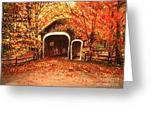 Autumn Bike Ride Greeting Card
