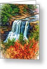 Autumn Blackwater Falls - Paint 3 Greeting Card