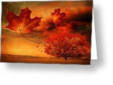 Autumn Blaze Greeting Card