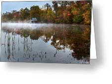 Autumn Boathouse Greeting Card
