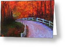 Autumn Bridleway Greeting Card