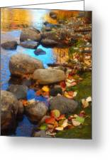 Autumn By The Creek Greeting Card