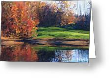 Autumn By Water Greeting Card