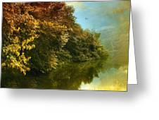 Autumn Canvas Greeting Card