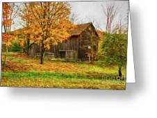 Autumn Catskill Barn Greeting Card