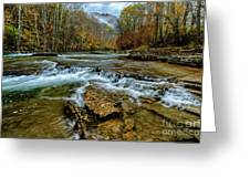 Autumn Cherry Falls Elk River Greeting Card