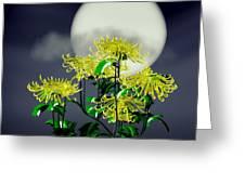 Autumn Chrysanthemums Greeting Card by GuoJun Pan