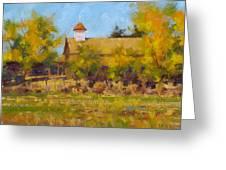 Autumn Church Taos Greeting Card