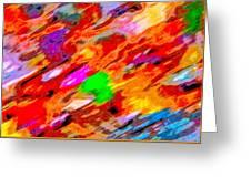 Autumn Color Blurs 144 Greeting Card