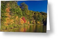 Autumn Color Trees Along Beauty Lake Greeting Card