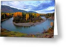 Autumn Colors Along Tanzilla River In Northern British Columbia Greeting Card