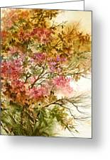Autumn Colors And Twigs Greeting Card
