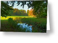 Autumn Colors In A Park Greeting Card