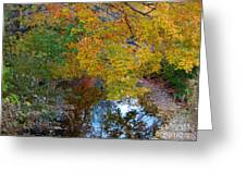 Autumn Colors Of Reflection Greeting Card