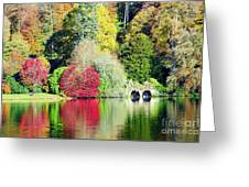 Autumn Colours By The Lake Greeting Card