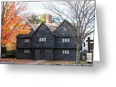 Autumn Comes To The Witch House Greeting Card