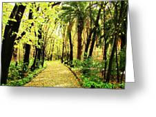 Autumn Corridor Greeting Card