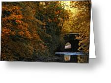 Autumn Country Bridge Greeting Card
