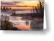 Autumn Dawning Greeting Card