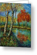 Autumn Day. Greeting Card