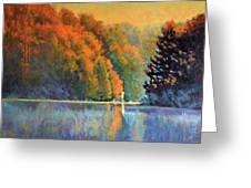 Autumn Day Rising Greeting Card