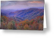 Autumn Deciduous Forest Great Smoky Greeting Card