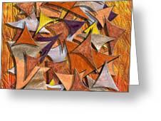 Autumn Deltas Greeting Card