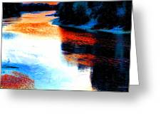 Autumn Down By The River Greeting Card