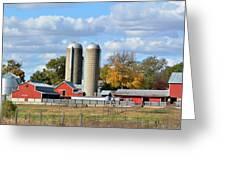 Autumn Elk Farm Greeting Card