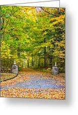 Autumn Entrance 3 Greeting Card